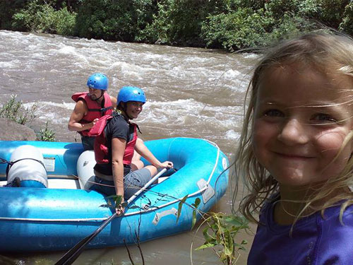 Family friendly white water rafting